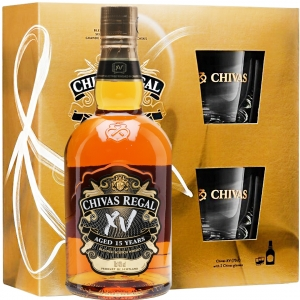 Chivas Regal XV 15YO Whisky 0,7L 40% + 2 szklanki