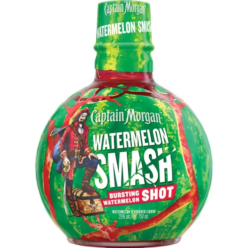Captain Morgan Watermelon Smash Rum 0,75L 25%