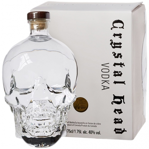 Crystal Head Wódka 1,75L 40% + kartonik