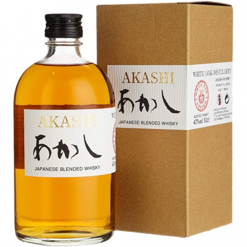 Akashi White Oak Whisky 0,5L 40% + kartonik