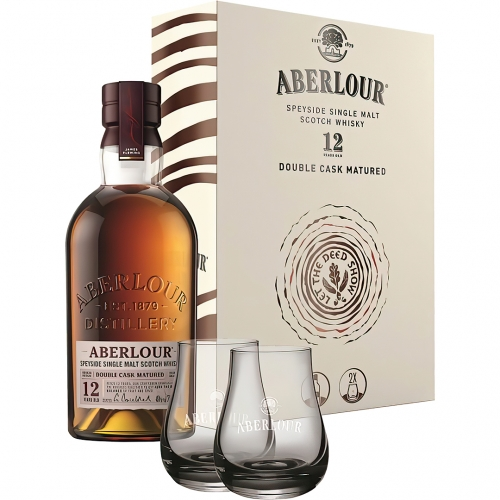 Aberlour Double Cask Matured 12YO Whisky 0,7L 40% + 2 szklanki